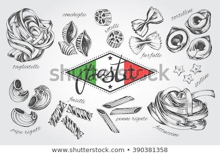 Photo stock: Italian Pasta Penne Rigate Tricolore