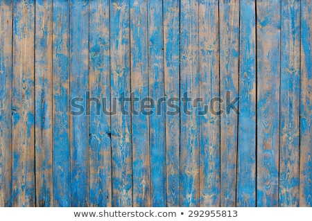 Foto stock: Wooden Plank With Cracked Paint