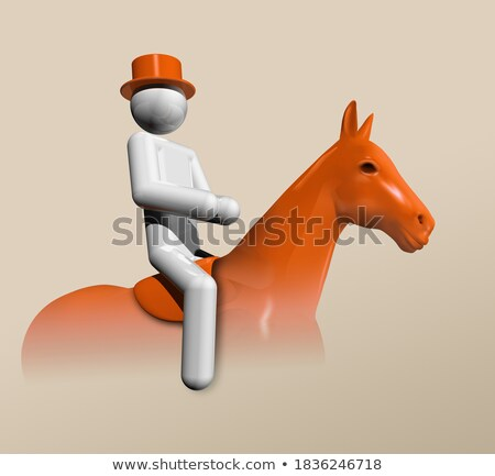 Equestrian Dressage 3D symbol stock photo © daboost