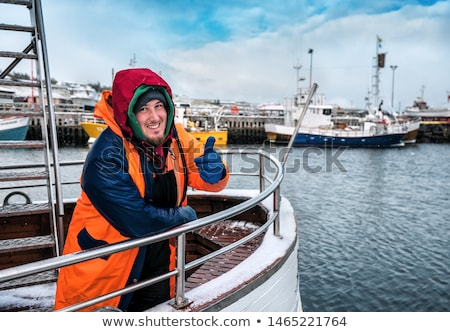 Happy fisherman  Stock photo © stevemc