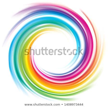 Spiral curled rainbow Stock photo © konradbak