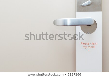 please clean my room hotel tag hanging on door knob Stock photo © happydancing