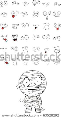 Set of Cartoon Mummy Stock photo © indiwarm