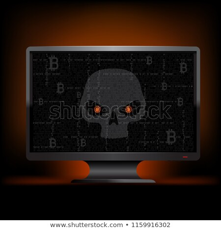 An eye monitoring emails and binary code stock photo © Balefire9