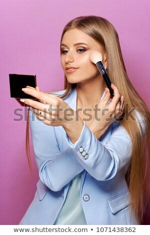 Photo stock: Portrait · jeune · femme · visage · poudre · femme · beauté
