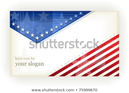 estrelas · detalhado · ilustração · fronteira · bandeira · americana - foto stock © wenani