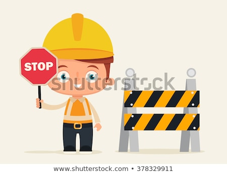 Builder holding stop sign Stock photo © photography33