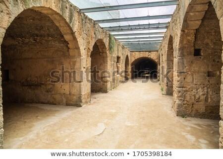 Anciens couloir Tunisie longtemps porte désert Photo stock © urbanangel