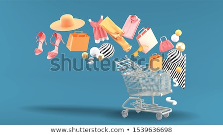 Stock photo: Summer sale shopping bag. vector illustration