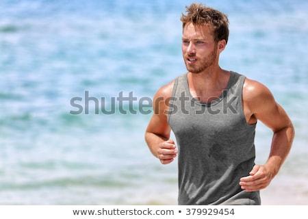 фитнес · человека · осуществлять · гири · здорового - Сток-фото © dash