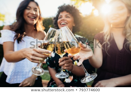 Woman relaxing with a glass of champagne Stock photo © photography33