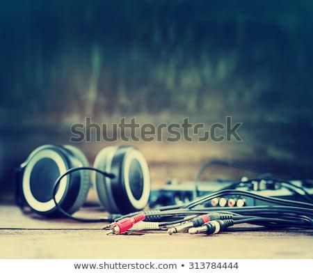 музыку · синий · музыкальный · полутоновой · искусства · скрипки - Сток-фото © igorij