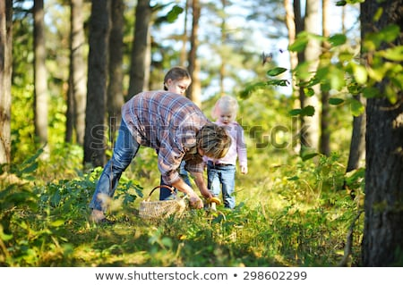 Mother and daughter picking mushrooms Stock photo © photography33