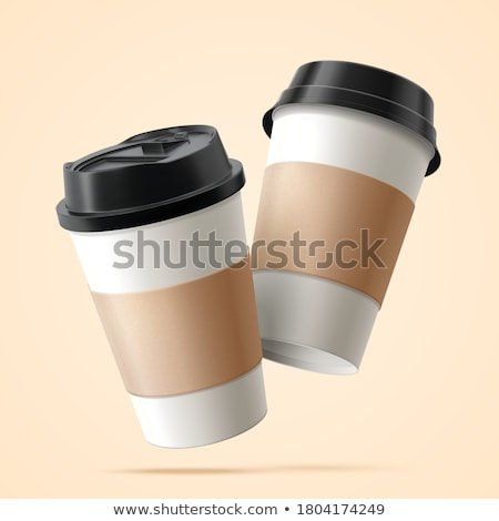 набор вектора рисованной иллюстрация кофейные чашки Сток-фото © czaroot