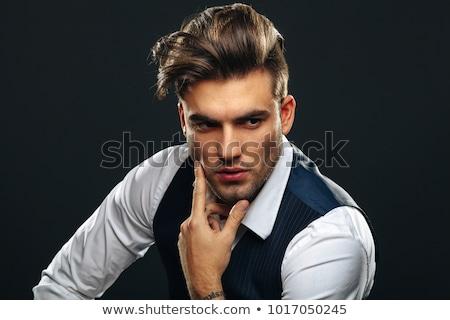 Face of handsome man, macho portrait Stock photo © Victoria_Andreas