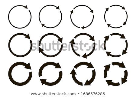 Renkli oklar circles ayarlamak farklı pozisyon Stok fotoğraf © liliwhite