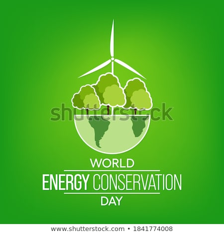 Enerji tasarrufu enerji ampul yeşil takım Stok fotoğraf © macropixel