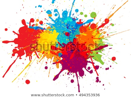 red abstract paint splashes illustration vector grunge background stock photo © designer_things