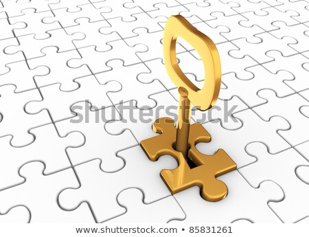 Rompecabezas pieza ojo de la cerradura fondo seguridad clave Foto stock © ozaiachin