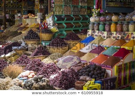 специи Каир Египет традиционный магазин рынке Сток-фото © travelphotography