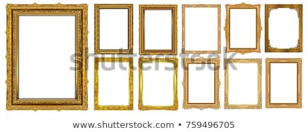 Aur Picture Frame izolat alb pictura Imagine de stoc © RTimages