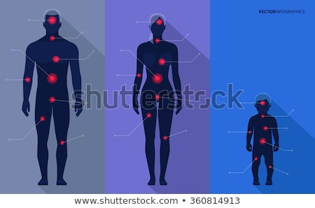 Adam kadın vücut siluet kalp sevmek Stok fotoğraf © Hermione
