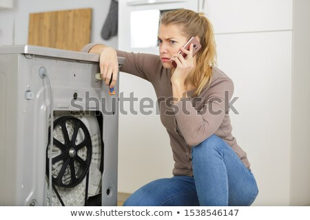 Stock photo: Cute female plumber