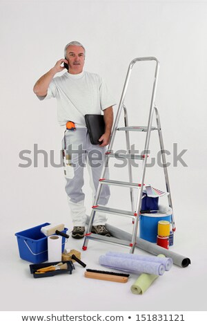 Experienced decorator on the phone to customer Stock photo © photography33