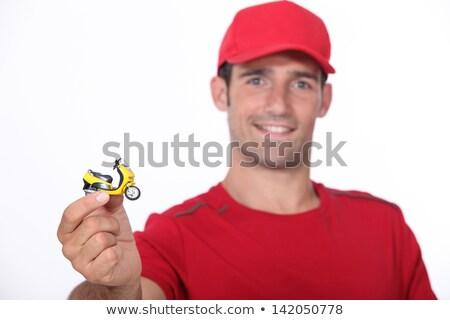 Minuscolo rosso giocattolo bianco persona Foto d'archivio © photography33