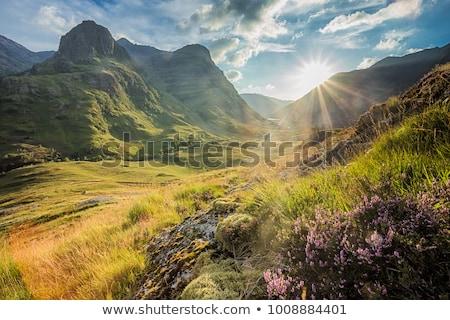Schotse hooglanden Schotland wolken berg bergen najaar Stockfoto © Julietphotography