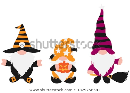 retro halloween witch isolated on white stock photo © lordalea