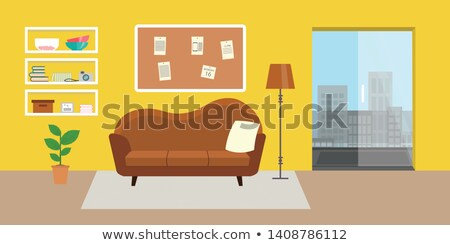 Cartoon Home Furniture Table stock photo © RAStudio
