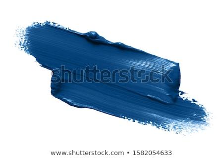 azul · paint · brush · isolado · branco · criança · Óleo - foto stock © inxti