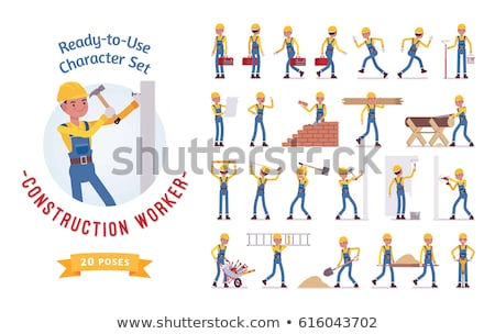 Construction worker with a sledgehammer Stock photo © photography33