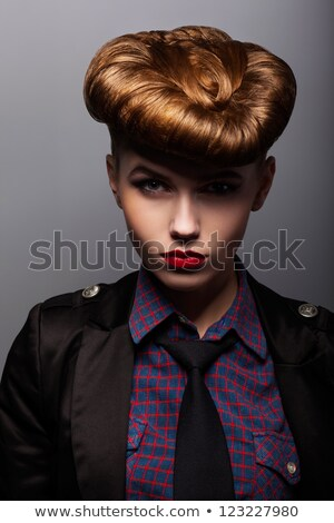 Upset. Sorrow. Stylish Thinking Woman - Melancholy Stock photo © gromovataya