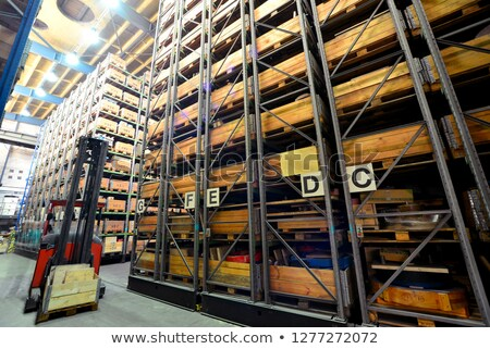 élevé · rack · stockage · industrielle - photo stock © prill