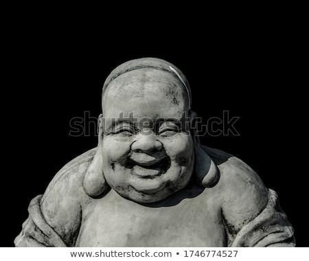 ストックフォト: 仏 · 肖像 · 孤立した · 白 · 影