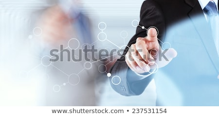 Main dessin organigramme Homme transparent Photo stock © ivelin