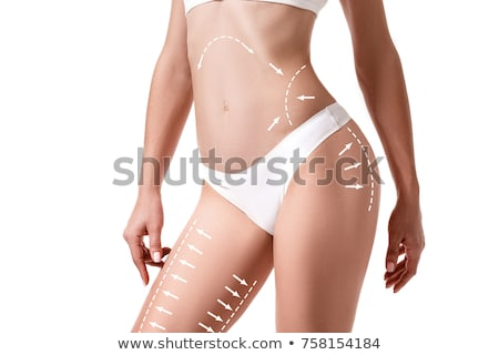 female legs in white bikini panties Stock photo © dolgachov