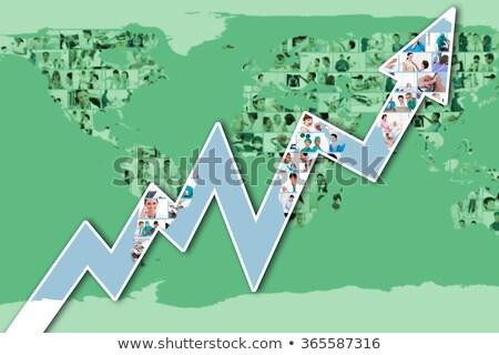 Illustratie foto's artsen wereldkaart arts werk Stockfoto © wavebreak_media