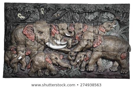 Szczegół ulga tradycyjny asian świątyni Zdjęcia stock © pzaxe