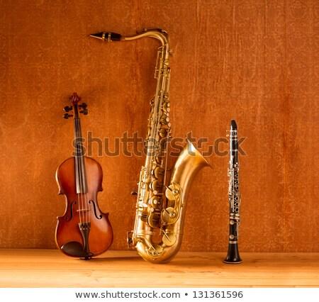 saxofoon · gouden · saxofoon · vintage · retro · licht - stockfoto © lunamarina