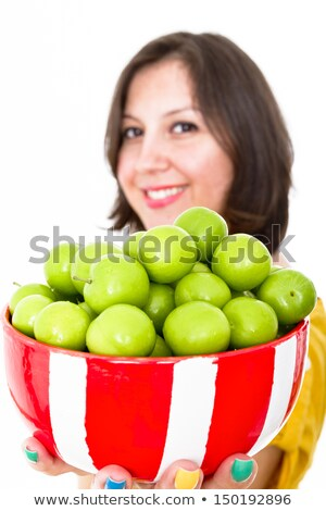 Greengages Presented Stock photo © ozgur