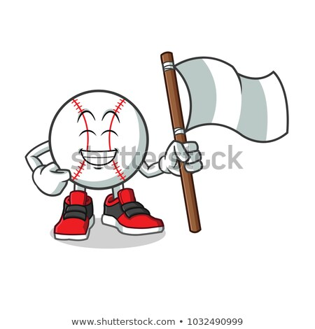 cartoon hand holding base bat   vector illustration stock photo © indiwarm