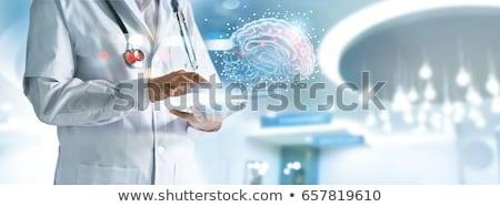 мозг · функционирующий · группа · желтый · дорожных · знаков - Сток-фото © lightsource