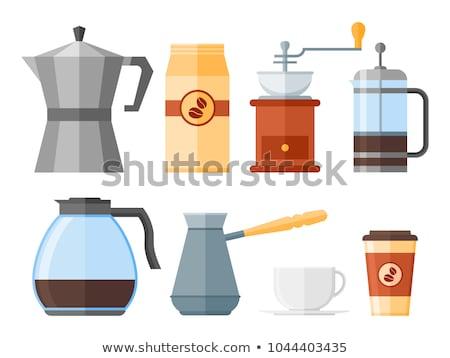 古い · コーヒー · ポット · 孤立した · 白 · 芸術 - ストックフォト © stocksnapper