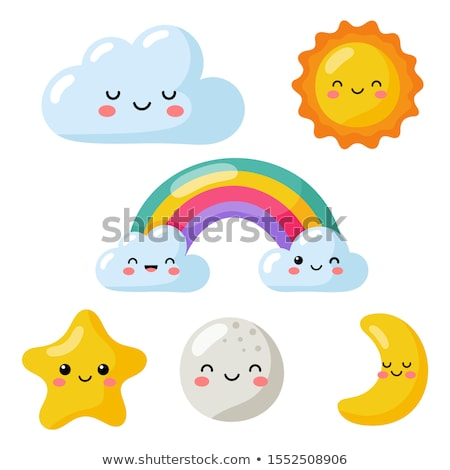 Stock photo: Set of Happy Suns