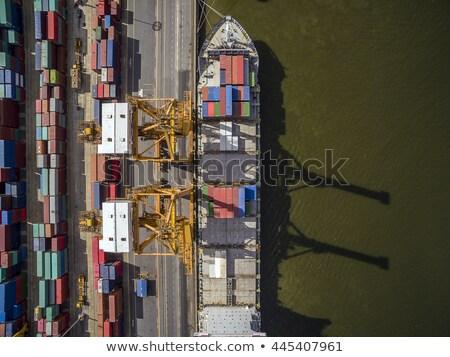 dockyard on river main Stock photo © meinzahn