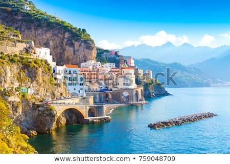 Mediterrán város panoráma turista célpontok gyönyörű Stock fotó © hraska