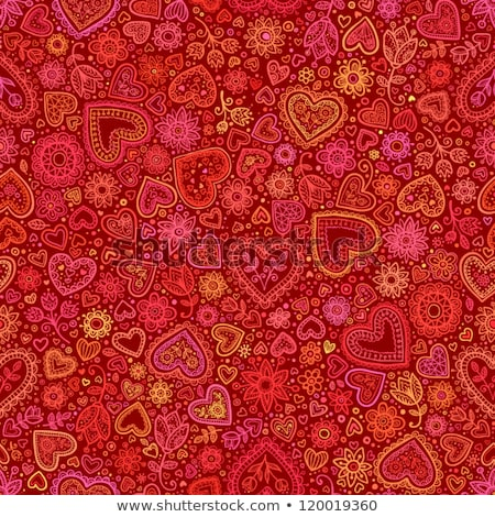 Floral Valentine background with heart Stock photo © Elmiko